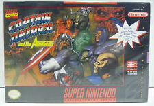 CAPTAIN AMERICA AND THE AVENGERS - SUPER NINTENDO SNES NTSC USA BOXED