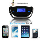 FM20 Universal 3.5mm Audio Car Transmitter FM Radio Adapter For Phone Tablet MP3
