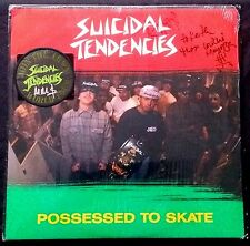 """SUICIDAL TENDENCIES - Signed Possessed To Skate 12"""" with signed patch - RARE!!"""