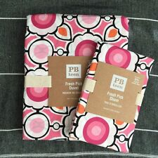 New Pottery barn Teen Fresh Pick Duvet Cover and sham pink orange 2pc