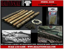 Reality In Scale 1/35 Unditching Logs (6 resin pieces, miniature rope and chain)