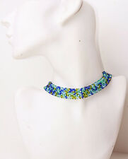 Precioso divertido green/sea Azul Con Cuentas Collar Collar Ajustable (zx24)