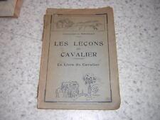 1935.leçons du cavalier / Montergon.cheval équitation