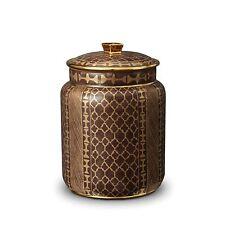 L'Objet Fortuny Ashanti Canister - Medium, Gold + Grey