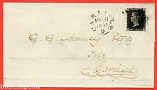 "SG. 2 d. A1 (2) i. AS25. "" RA "". 1d black. Plate 5. A fine used example on cover"