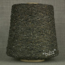 ANGORA WOOL BLEND YARN GREY TWEED 500g CONE 10 BALLS DOUBLE KNIT FELTED DONEGAL