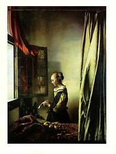 "1981 Vintage VERMEER ""GIRL READING LETTER @ OPEN WINDOW"" COLOR offset Lithograph"