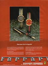 Publicité Advertising 1984  Montre Ferrari