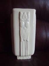 """Vintage Original Early 40's McCoy Cream Color Vase. 9""""Tall. Very Hard to Find!"""