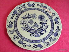 """Hutschenreuther (Blue Onion Scalloped) 10 5/8"""" DINNER PLATE(s) Exc (8 avail)"""