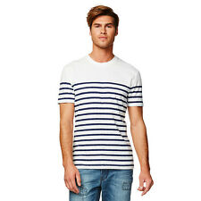 BNWT Jean Paul Gaultier Mens Blue Striped T-Shirt @ Size 2XL Extra Large NEW Top