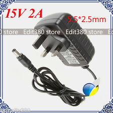 DC 15V 2A Adaptor AC 220v 230v to DC15V converter Power adapter Charger 5.5mm UK