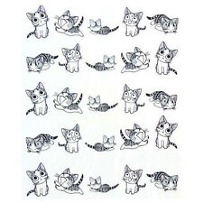 2Sheets 3D Transfer Kitty Cute Cat Nail Art Stickers Manicure Nail Polish Decal