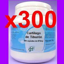 300 CAPSULAS CARTILAGO de TIBURON 750 mg HUESOS Y ARTICULACIONES shark cartilage