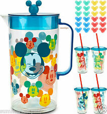 MICKEY MOUSE BEVERAGE SERVICE FOR FOUR~DISNEY STORE~SUMMER FUN FREE SHIP