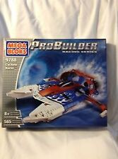 Mega Bloks 9788 ProBuilder Racing Series Cyclone Racer Speed Boat NIB 565 PCS