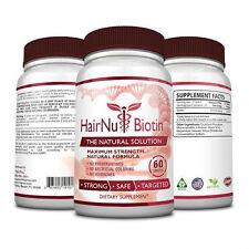 HairNu Biotin - Natural Hair Loss Treatment - Fast Hair Growth (3 Bottles)