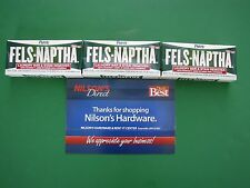 3 Fels Naptha Laundry Soap Bar Poison Ivy Treatment Homeade Oily Stain Remover