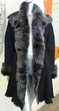 $3K NWT Hide Society Italy Toscana Lamb Sheepskin Shearling Spanish Fur Coat L