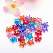 NEW 10mm 50pcs transparent mix color acrylic Pentagram SPACER Beads fittings DIY