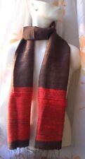 CHIC & KUSCHELIG -100% Rohseide Schal rot braun changierend handmade scarf red