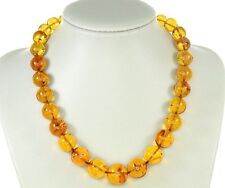 Rare German Museum Verified Genuine Amber Beads with Insects- A0374 RRO£5800!!!