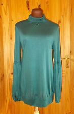 WALLIS teal blue-green long sleeve lace tunic top STEAMPUNK VICTORIANA 12 40