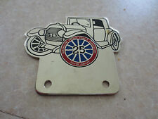 Queensland vintage car badge for Ford Chev Austin Morris Buick Wolseley MG