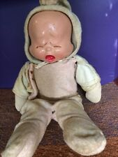 Antique Composition Trudy 3 Face Doll - Smiley, Sleepy & Weepy- As Is