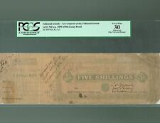 Falkland Islands Lot P-A1 A3 1899 1900 1901 5 Shillings 1 Pound VF Proof PCGS-30