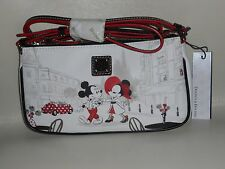 NWT Disney Dooney & Bourke Mickey Minnie Cafe Pouchette crossbody bag purse