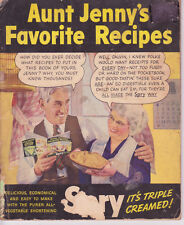 SPRY c.1940s - Aunt Jenny's Favorite Recipes - Pies Cookies Cakes Biscuits
