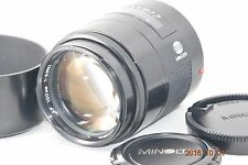 Minolta AF 100mm F/2 (32) Lens for Sony Alpha w/Hood  Near Mint Condition/JAPAN