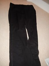 Ladies H&M Black Trousers with Silk Stripe down Side Size 18 Eur 46 BNWOT