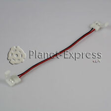Conector extension cable con 2 conectores 8mm 2 pines Tira led de un color SMD