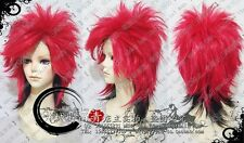 X Japan Hide Anime Cosplay Costume Wig +Free Ship + WIG CAP