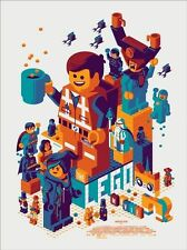 THE LEGO MOVIE By Tom Whalen Mondo Limited Edition Poster Print SOLD OUT!
