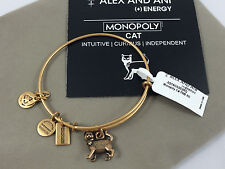 NEW Alex and Ani Monopoly Cat Charm Bangle Bracelet in Rafaelian GOLD Finish