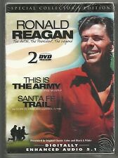 Ronald Reagan 2 DVD Collector's Edition Set Santa Fe Trail This is the Army New