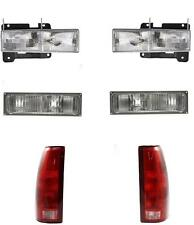 1990-1993 Chevy GMC Truck Headlights Park Lamps Tail Lamps 92-93 Yukon Set/6