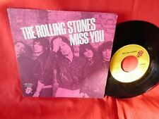 THE ROLLING STONES Miss you + Far away eyes 45rpm 7' + PS 1978 ITALY EX+