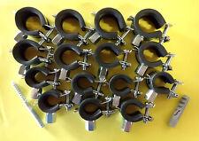 Rohrschellen Set 20 x 15-19 mm 20 x 20-23mm 10 x 25-28mm 50 Stockschrauben NEU
