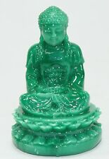 "Feng Shui 2"" Green Meditating Buddha Figurine Peace Luck Statue Paperweight Gift"