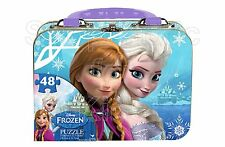 SFK Disney Frozen Puzzle in Tin with Handle (48-Piece)