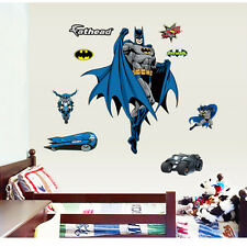 Novelty Cool Hero Batman Wall Stickers Vinyl Art Kids Boys Bedroom Decor Decals