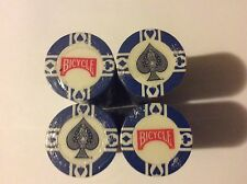 Bicycle Blue poker chips spade style rare 100 ct