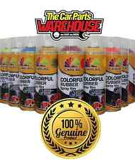 "RED Rubber Aerosol Spray Wrap "" plastic dip "" (Peel off Paint) RED Carlas"