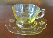 Lancaster Jubilee Yellow Cups & Saucer Set(s)