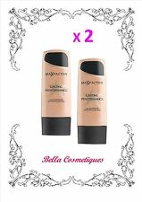 BULK 2 X MAX FACTOR LASTING PERFORMANCE FOUNDATION 101 IVORY BEIGE makeup