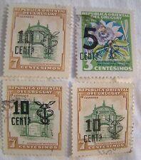 Uruguay Stamp Set 1958 Scott 637 - 638 Overprints